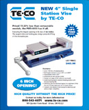 New 4 Inch Single Station Vise PWS-4600